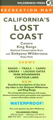 Californias Lost Coast Recreation Map By Wilderness Press (EDT)